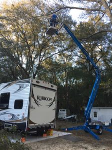 Working over trailer