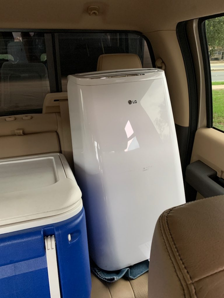 Loaded portable AC Unit to try